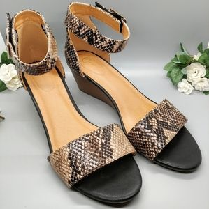 Cato Comfort | Faux Snake Skin Sandals